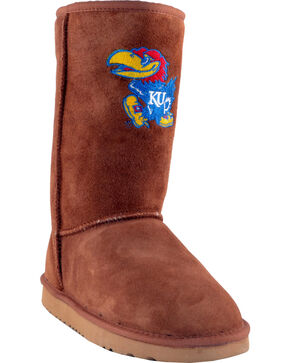 Gameday Boots Women's University of Kansas Lambskin Boots, Tan, hi-res
