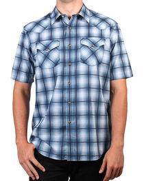 Pendleton Men's Blue Ombre Short Sleeve Plaid Shirt , , hi-res