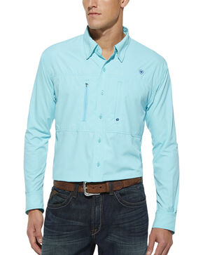 Ariat Radiance Blue Venttek Long Sleeve Shirt, Blue, hi-res