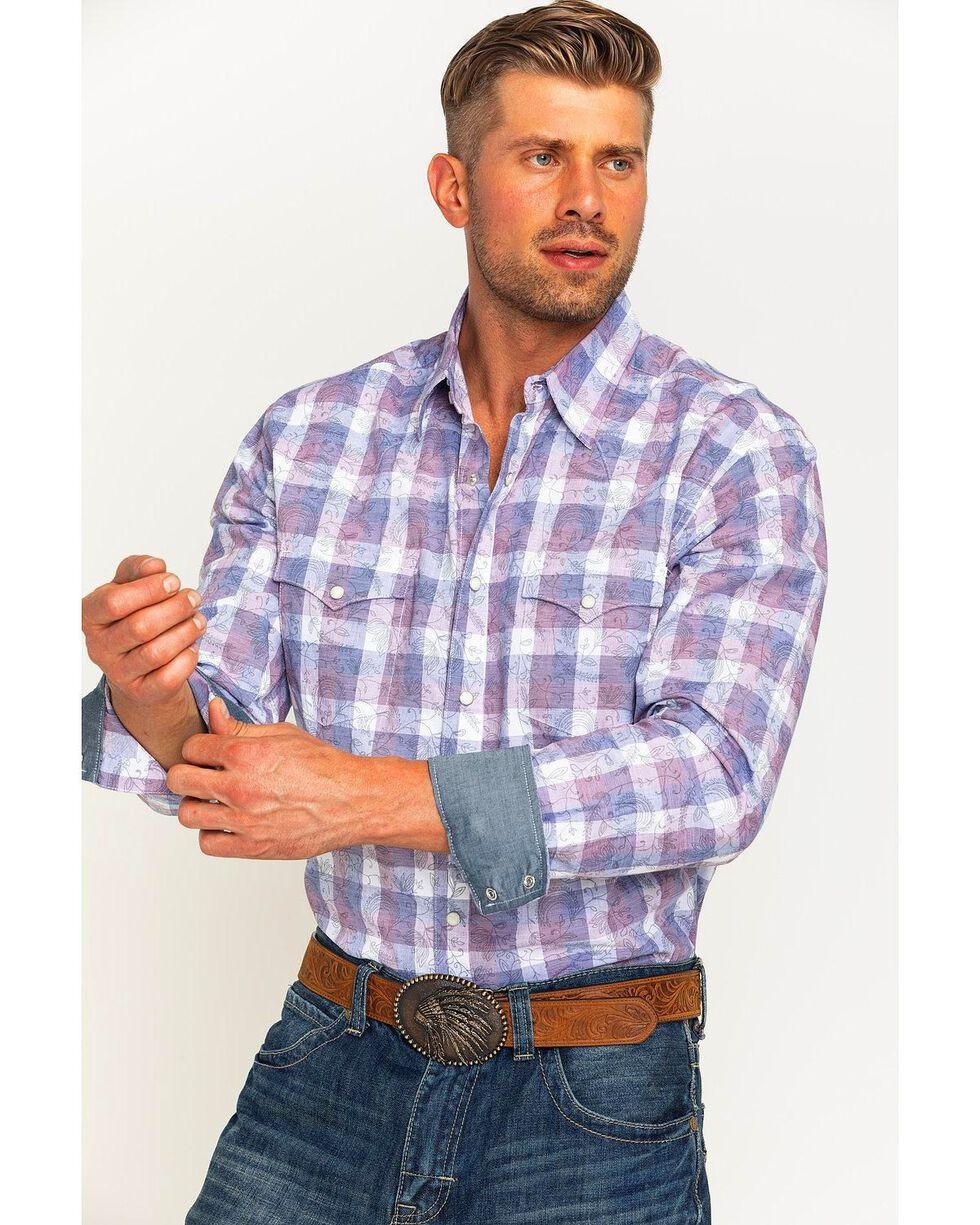 Wrangler Men's Navy Retro Premium Western Shirt , Navy, hi-res
