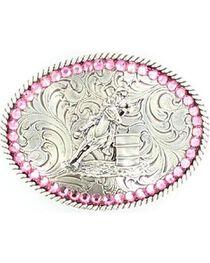 Nocona Belt Co Girl's Cowgirl Belt Buckle, , hi-res