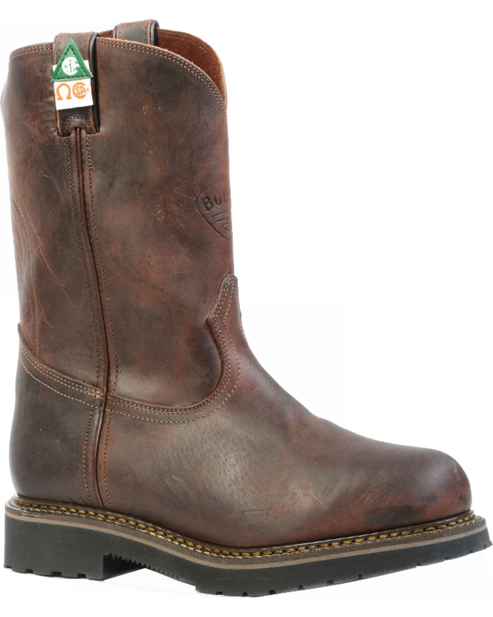 Boulet Laid Back Copper Western Work Boots - Steel Toe, Copper, hi-res