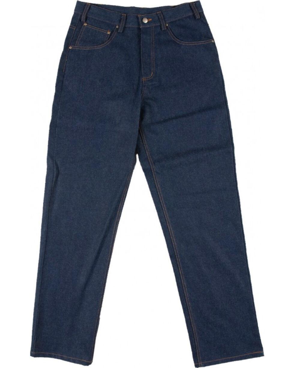 Rasco Men's Blue FR Hardworking Denim Jeans - Tapered , Blue, hi-res