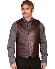 Scully Men's Lambskin Lapel Vest, , hi-res