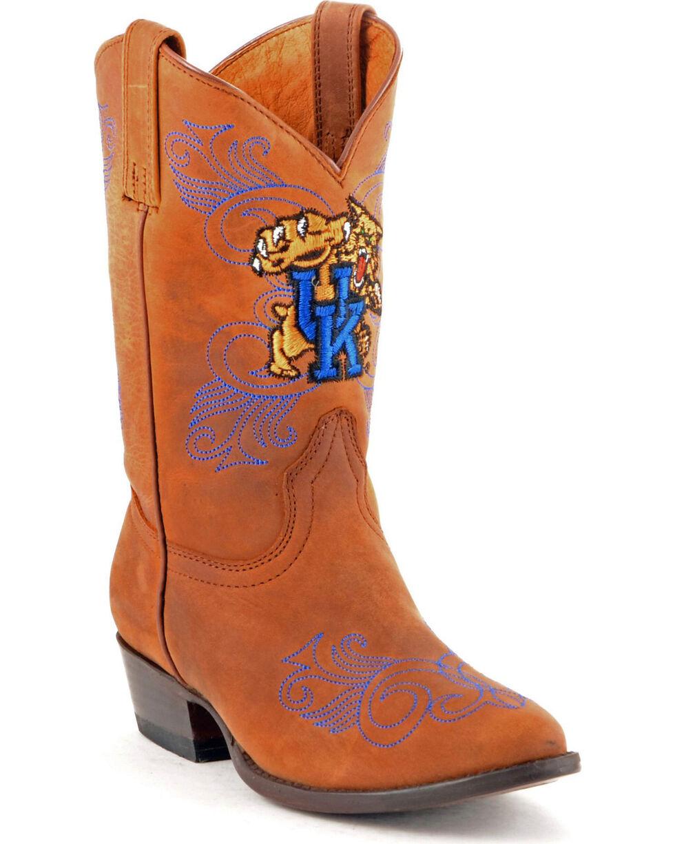 Gameday Boots Girls' University of Kentucky Western Boots - Medium Toe, Honey, hi-res
