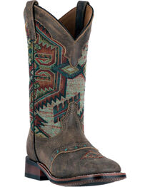 Laredo Women's Scout Aztec Square Toe Boots, , hi-res