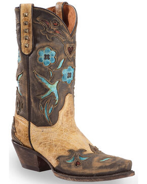 Dan Post Women's Vintage Bluebird Western Boots, Tan, hi-res