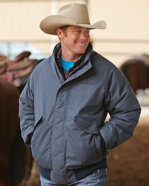 Cinch Men's Down Filled Western Jacket, Navy, hi-res