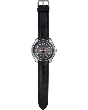 Montana Silversmiths PBR Gator Print Leather Watch, Multi, hi-res