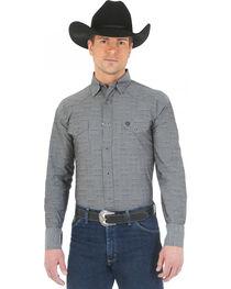 Wrangler George Strait Troubadour Black Diamond Print Western Shirt, , hi-res