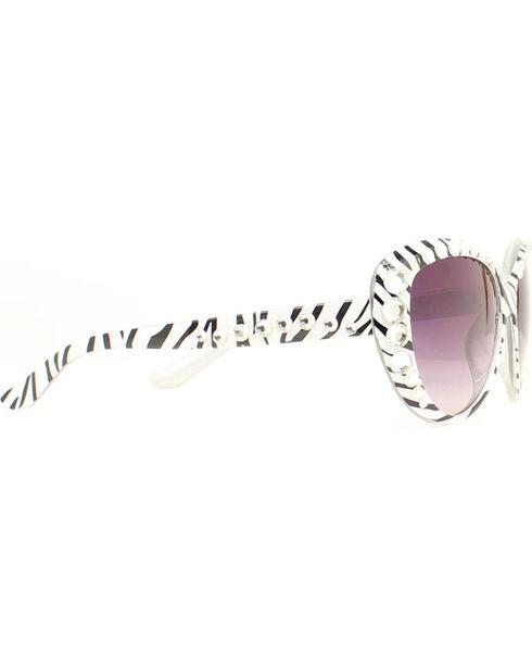 Blazin Roxx Zebra Crystal Sunglasses, Zebra, hi-res