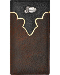 Justin Brown Bull Rodeo Leather Wallet, , hi-res