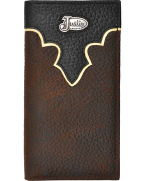 Justin Brown Bull Rodeo Leather Wallet, Brown, hi-res