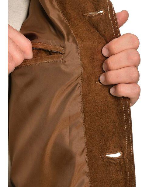 Scully Men's Boar Suede Car Coat, Brown, hi-res