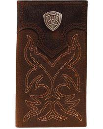 Ariat Men's Rodeo Bi-Fold Checkbook Wallet, , hi-res