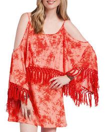 Rancho Estancia Women's Tie-Dye Flutter Sleeve Dress, , hi-res