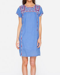 Johnny Was Women's Willow Pleated Peasant Long Tunic Dress , , hi-res