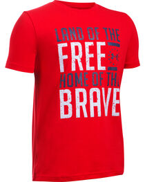 Under Armour Freedom Boy's Red Land of the Free Tactical Shirt, , hi-res
