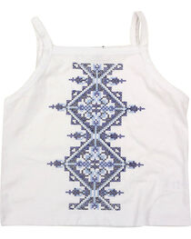 Shyanne® Girls' Embroidered Tank Top, , hi-res