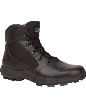 "Rocky Men's Broadhead 6"" Duty Boots, Black, hi-res"