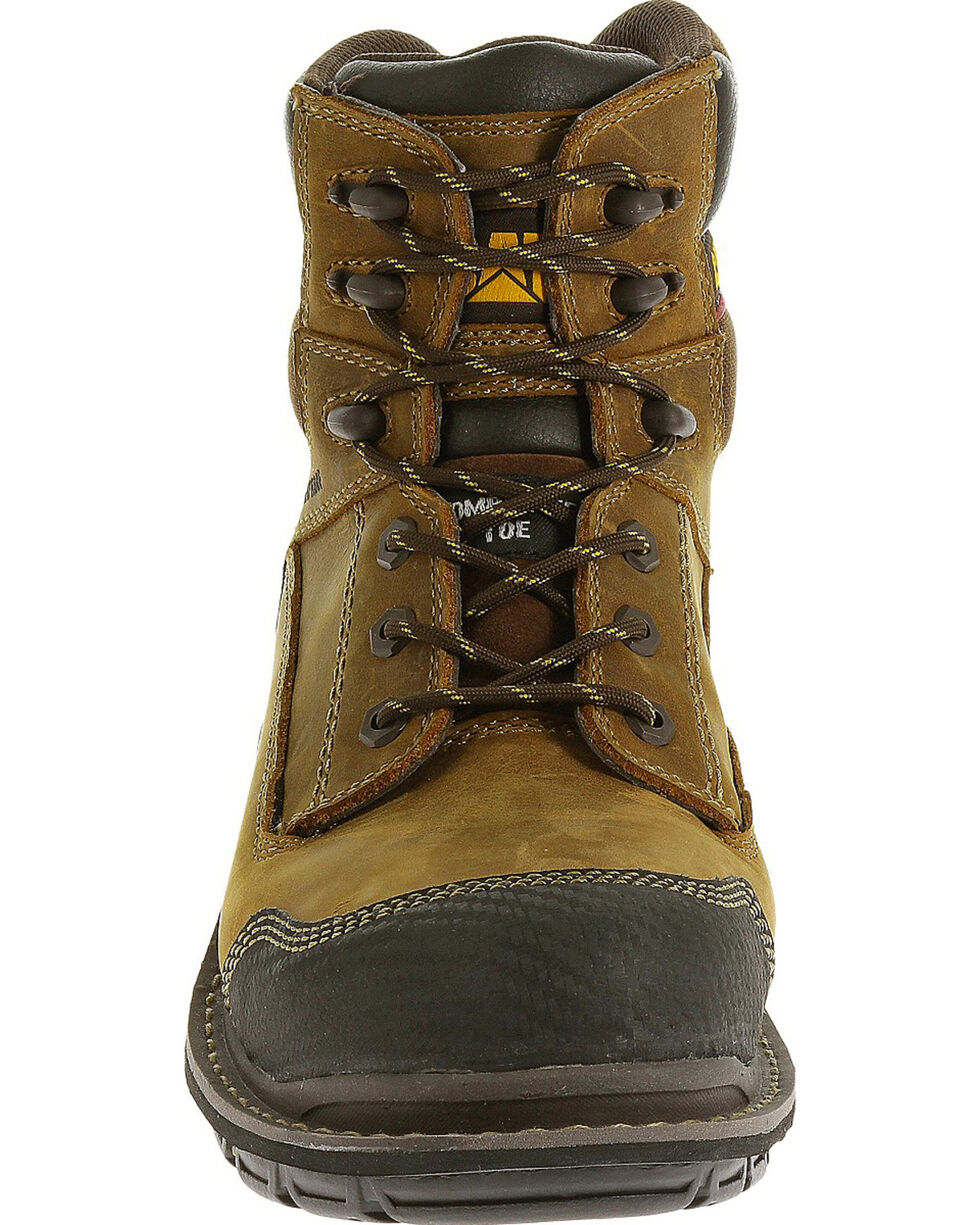 "CAT Men's Fabricate 6"" Tough Waterproof Work Boots, Brown, hi-res"