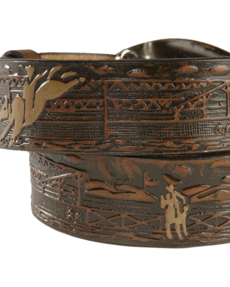 Nocona Boys' Bull Rider  Belt, Brown, hi-res