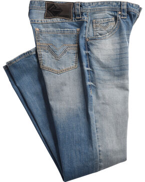 Rock & Roll Cowboy Men's Blue Tuf Cooper Reflex Jeans - Straight Leg , Blue, hi-res