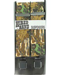Hired Hand Mossy Oak Breakup Camouflage Suspenders, , hi-res