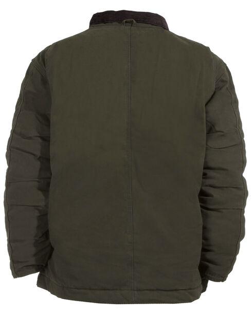 Berne Bark Original Washed Chore Coat, Olive Green, hi-res