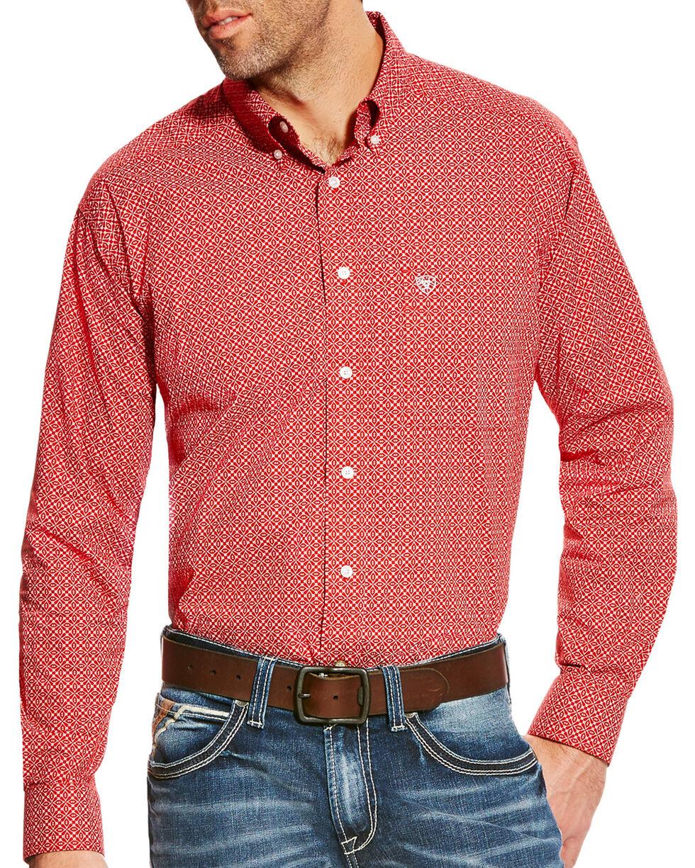 Ariat Men's Batson Print Western Long Sleeve Shirt , Multi, hi-res