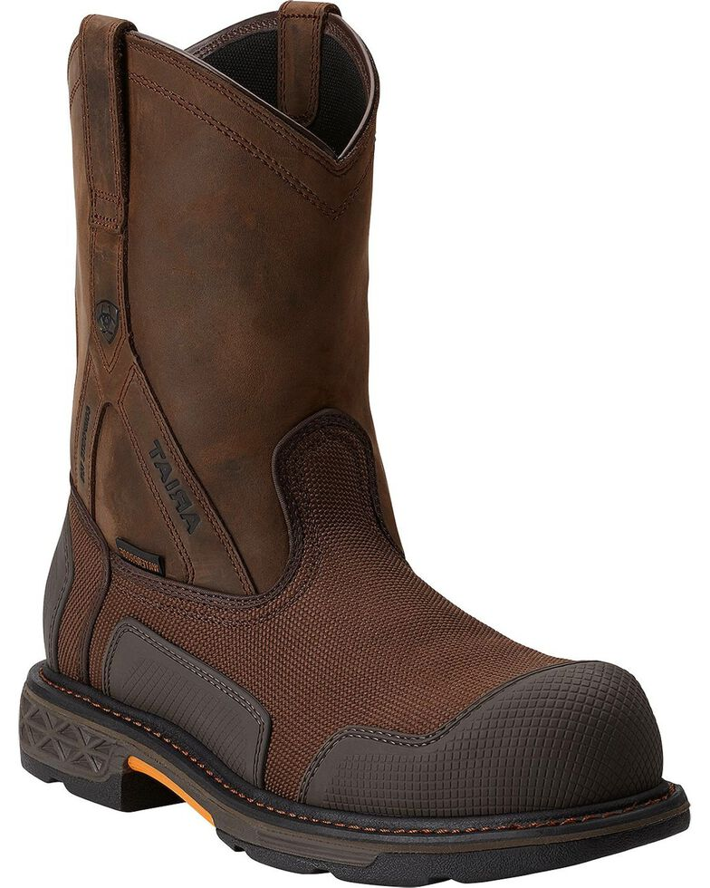 Ariat Men's Overdrive® XTR Pull-On H2O CT Work Boots, Brown, hi