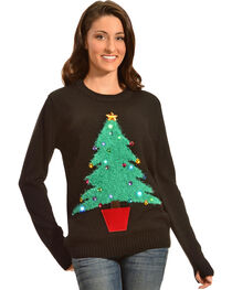Lisa International Colorful Christmas Tree Light Up Christmas Sweater, , hi-res