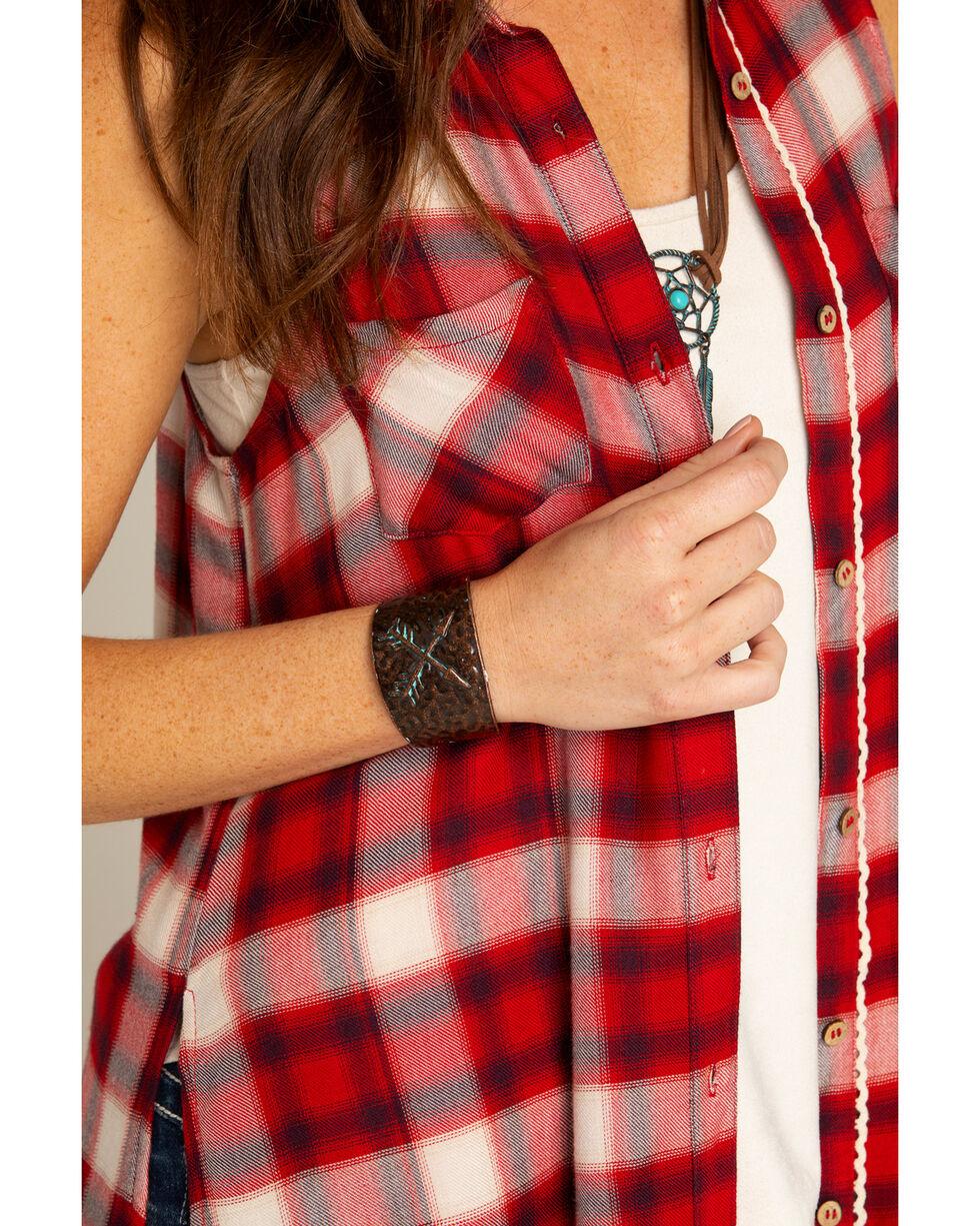 Shyanne Women's La Rosita Crossed Arrow Cuff Bracelet, Turquoise, hi-res