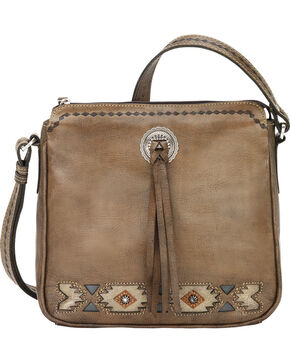 American West Women's Native Sun All Access Crossbody Bag, Brown, hi-res