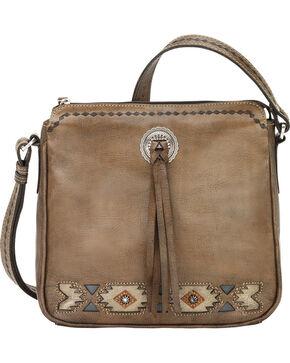 American West Women's Native Sun All Access Crossbody Bag, Brown, hi-res