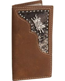 Nocona Bullrider Concho Leather Youth Rodeo Wallet, , hi-res