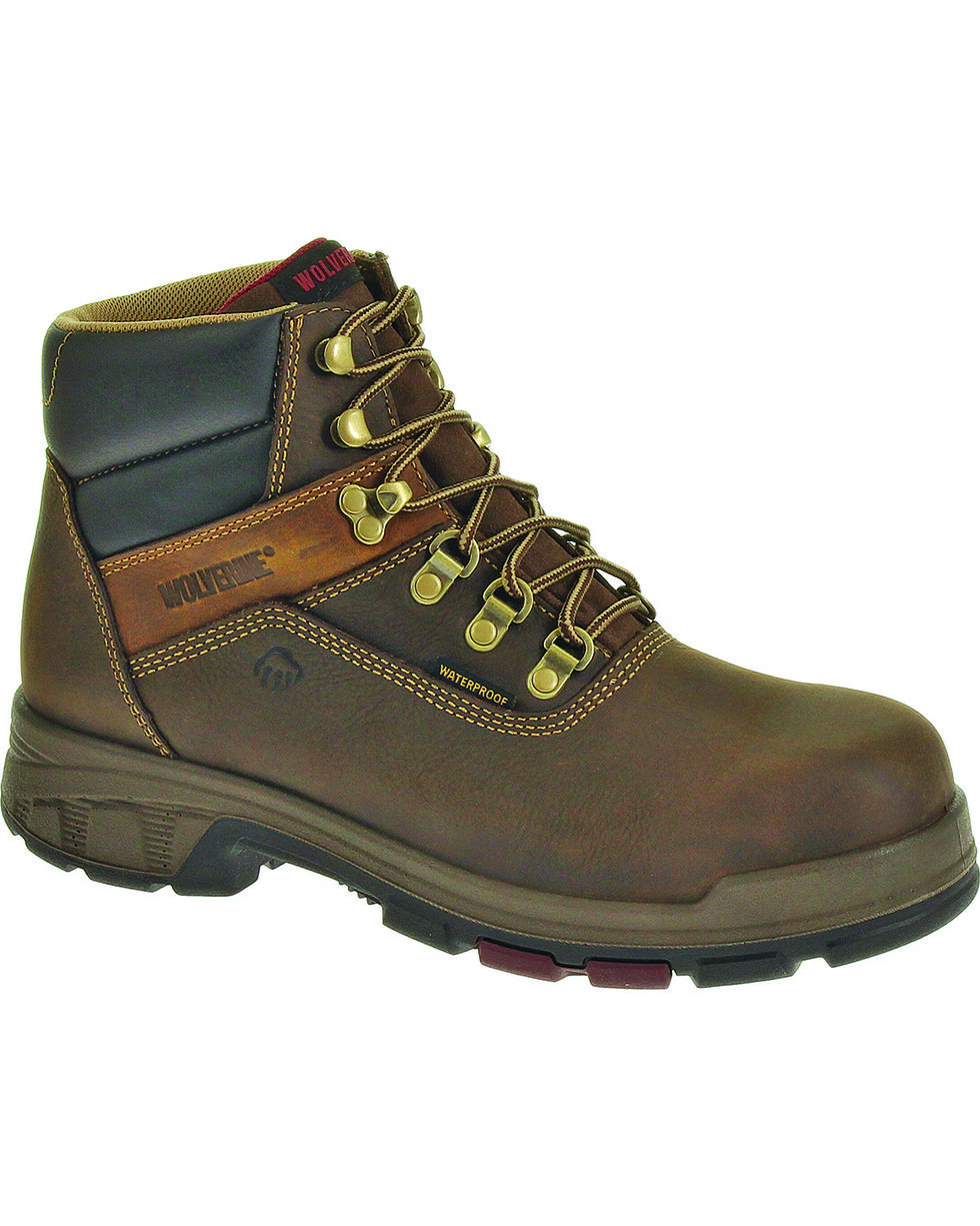 """Wolverine Men's Cabor 6"""" WPF Work Boots, Coffee, hi-res"""