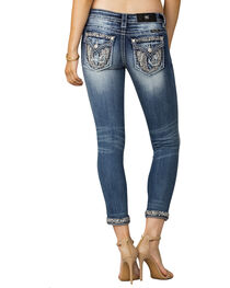 Miss Me Women's Indigo Wing Embroidered Jeans - Ankle Skinny, , hi-res