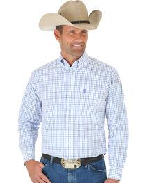 Wrangler Men's George Strait Multi-Colored Plaid Button Down Shirt, , hi-res