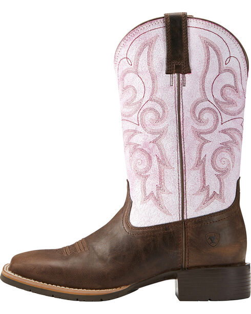 Ariat Women's Hybrid Rancher Western Boots, Dark Brown, hi-res