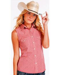 Panhandle Slim Women's Red Sleeveless Vintage Shirt , , hi-res