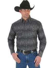 Wrangler George Strait Troubadour Stripe Western Shirt, , hi-res