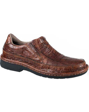 Roper Men's Performance Powerhouse Croc Slip-On Shoes, Brown, hi-res