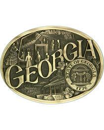 Montana Silversmiths Georgia State Heritage Attitude Belt Buckle, , hi-res