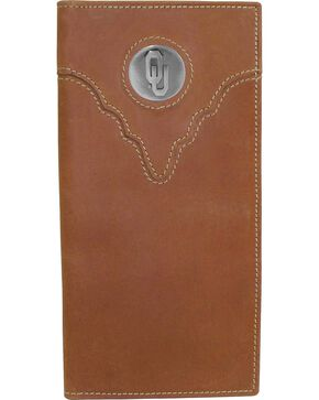 University of Oklahoma Logo Concho Checkbook, Crazyhorse, hi-res