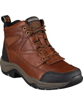Ariat Women's Terrain Hiking Endurance Boots, Brown, hi-res