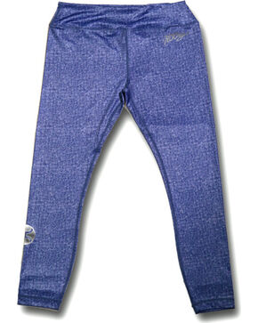 Hooey Women's Blue Denim Yoga Leggings, Blue, hi-res