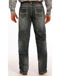 "Rock & Roll Cowboy Men's Tuf Cooper Performance Competition Fit Small ""V"" Jeans - Straight Leg , , hi-res"