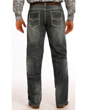 """Tuf Cooper Performance Competition Fit Small """"V"""" Jeans - Straight Leg , Indigo, hi-res"""