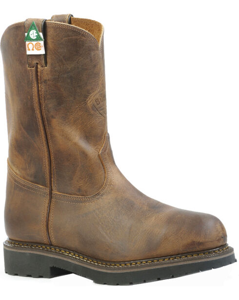 Boulet Hillbilly Golden Work Boots - Steel Toe, Tan, hi-res